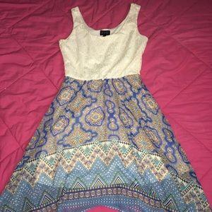 Dresses & Skirts - High-Low Printed Dress